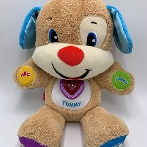 """Fisher Price Blue Ears Interactive Bear, 14"""" tall!"""
